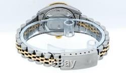 Rolex Women's Datejust Watch SS 18K Yellow Gold Red Vignette Diamond Dial/Bezel