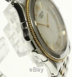 SEIKO CREDOR 8J81-6A20 18K Yellow Gold Silver Dial Quartz Men's Watch 523606