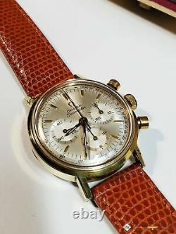 Serviced 1967 Vintage Omega SeaMaster Chronograph Cal 321 Watch 145.005 Gold Box