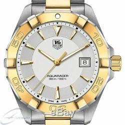 TAG Heuer Aquaracer 300M WAY1120. BB0930 Quartz Mens Watch GOLD/SILVER TONED