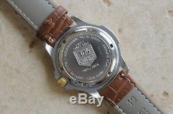 Tag Heuer 995.706 Watch Mens 4000 WF1120 Brown Leather GOLD SILVER Professional