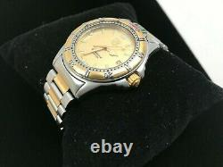 Tag Heuer Watch 995.406A Mens 4000 SS GOLD SILVER Professional Works Fine