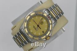 Tag Heuer Watch 995.406 Mens 4000 WF1120. BB0517 SS GOLD SILVER Professional