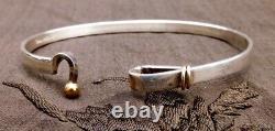 Tiffany & Co. 18Ct 18K Yellow Gold Silver Hook Eye Bangle Bracelet