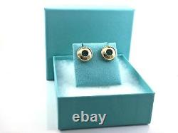 Tiffany & Co 18k Yellow Gold Silver 925 Picasso Magic Disc Circle Earrings 1858A