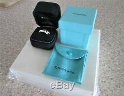 Tiffany & Co Interlocking 18ct Yellow Gold & Silver Wedding Band Thumb Ring O