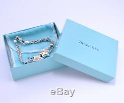 Tiffany & Co. Star Double Rope Bracelet 18K Yellow Gold Silver 925 j653