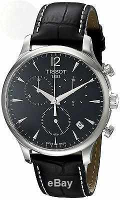 Tissot T-Classic Tradition T0636171605700 Steel Black Leather Swiss Mens Watch