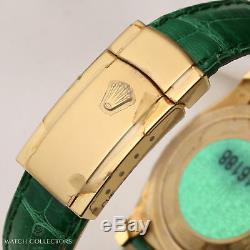 Unworn Factory Full Set Rolex DateJust 116188 18K Yellow Gold Silver Diamond