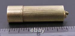 Vintage CARTIER 14K Solid Yellow Gold Cylindrical Column Pill Box 6.86 grams