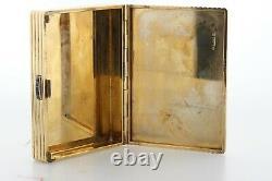 Vintage CARTIER London 9K 375 Yellow Gold & Blue Sapphire Hinged Cigarette Case