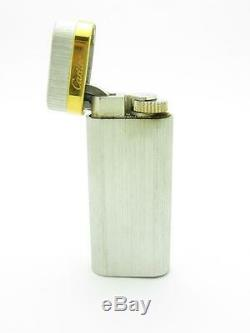 Vintage Cartier Lighter Made In Paris 18k Yellow Gold & Silver Butane Filled