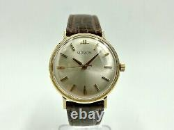 Vintage LeCoultre 14k Yellow Gold & Silver Dial