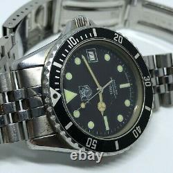 Vintage TAG Heuer 1000 Professional 200 Meters 980.013N Divers Quartz Watch 37mm