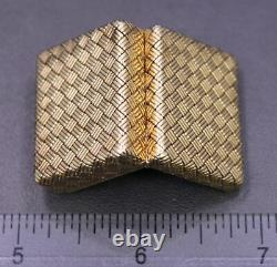 Vintage TIFFANY & CO. 14K Solid Yellow Gold Hinged Woven Pill Box 20.39 grams